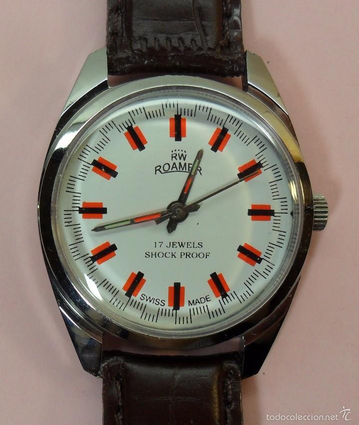 19e8227ee695 Vintage reloj suizo roamer de pulsera para homb - Vendido en Subasta ...