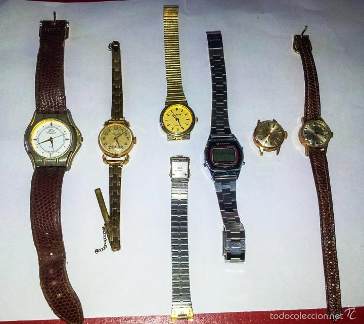 LOTE DE 6 RELOJES DE PULSERA (Relojes - Pulsera Carga Manual)