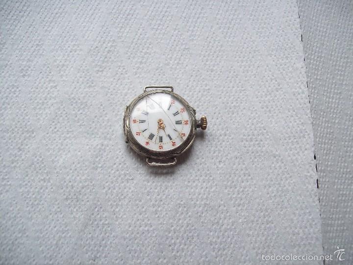 ANTIGUO RELOJ DE PULSERA DE SEÑORA EN PLATA Y FUNCIONANDO (Relojes - Pulsera Carga Manual)