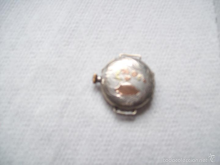 Relojes de pulsera: Antiguo Reloj de pulsera de señora en plata y funcionando - Foto 2 - 57487239