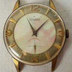 Relojes de pulsera: RE336. RELOJ DE CABALLERO DUWARD. ESFERA DE NACAR. CHAPADO EN ORO DE 10 MICRONS. AÑOS 60. . Lote 57505953