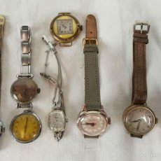 Relojes de pulsera: RE347. COLECCION DE 8 RELOJES DE PULSERA PARA SEÑORA. VARIAS MARCAS. AÑOS 40. . Lote 57528823