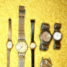 Relojes de pulsera: LOTE DE 6 RELOJES. VARIOS TIPOS Y MARCAS. VER FOTOGRAFÍAS. MUY INTERESANTE.. Lote 57644569