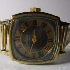 Relojes de pulsera: RELOJ DAMA ANTIGUO COLECCION CORNAVIN 17 JEWELS SHOCPROOF CUERDA CHAPADO ORO. Lote 57890820