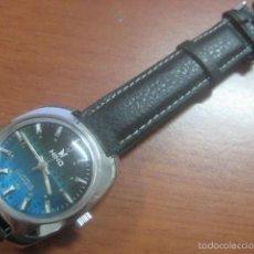 Relojes de pulsera: PRECIOSO RELOJ DE PULSERA MARCA NINO, CORREA DE CUERO, 17 JOYAS, ESFERA BI-COLOR, AÑOS 50, FUNCIONA. Lote 60091207