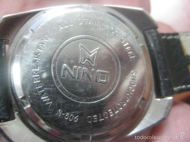 Relojes de pulsera: PRECIOSO RELOJ DE PULSERA MARCA NINO, CORREA DE CUERO, 17 JOYAS, ESFERA BI-COLOR, AÑOS 50, FUNCIONA - Foto 4 - 60091207