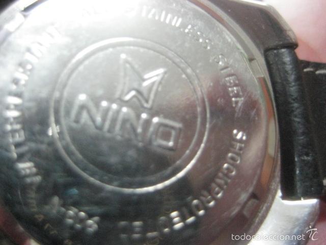 Relojes de pulsera: PRECIOSO RELOJ DE PULSERA MARCA NINO, CORREA DE CUERO, 17 JOYAS, ESFERA BI-COLOR, AÑOS 50, FUNCIONA - Foto 5 - 60091207