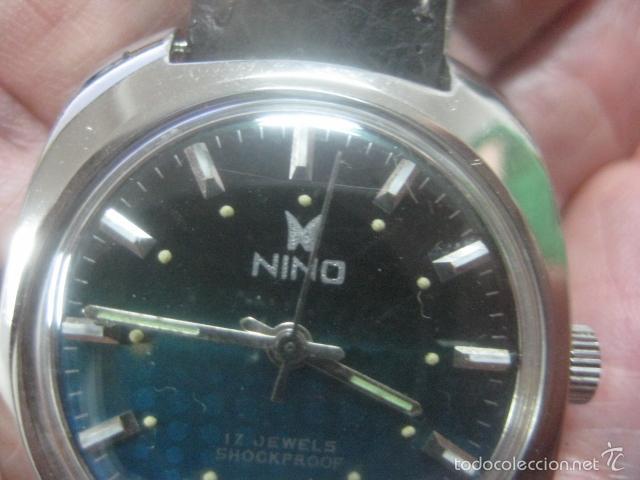 Relojes de pulsera: PRECIOSO RELOJ DE PULSERA MARCA NINO, CORREA DE CUERO, 17 JOYAS, ESFERA BI-COLOR, AÑOS 50, FUNCIONA - Foto 8 - 60091207