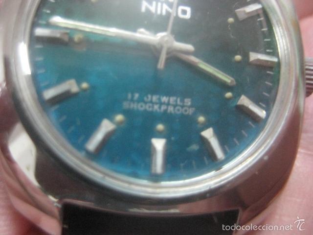 Relojes de pulsera: PRECIOSO RELOJ DE PULSERA MARCA NINO, CORREA DE CUERO, 17 JOYAS, ESFERA BI-COLOR, AÑOS 50, FUNCIONA - Foto 9 - 60091207