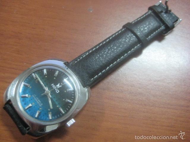 Relojes de pulsera: PRECIOSO RELOJ DE PULSERA MARCA NINO, CORREA DE CUERO, 17 JOYAS, ESFERA BI-COLOR, AÑOS 50, FUNCIONA - Foto 10 - 60091207