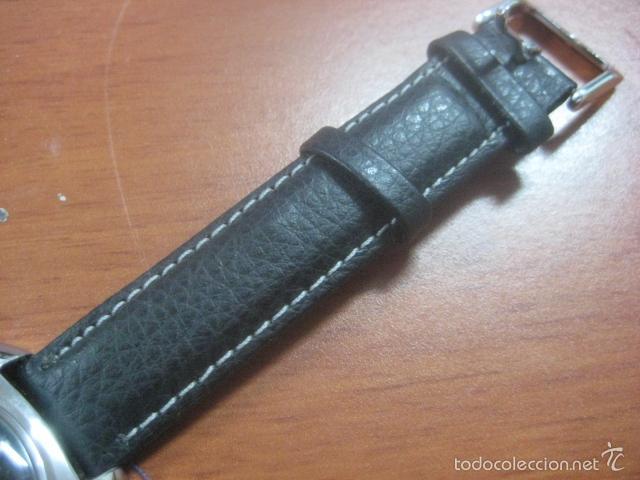 Relojes de pulsera: PRECIOSO RELOJ DE PULSERA MARCA NINO, CORREA DE CUERO, 17 JOYAS, ESFERA BI-COLOR, AÑOS 50, FUNCIONA - Foto 11 - 60091207