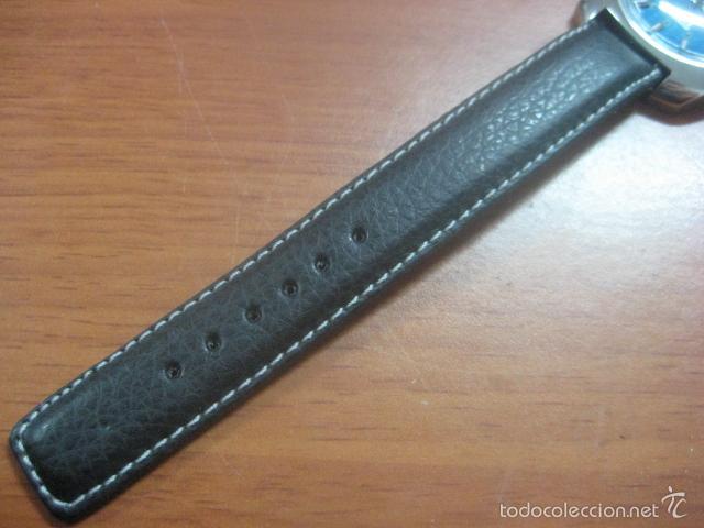 Relojes de pulsera: PRECIOSO RELOJ DE PULSERA MARCA NINO, CORREA DE CUERO, 17 JOYAS, ESFERA BI-COLOR, AÑOS 50, FUNCIONA - Foto 12 - 60091207