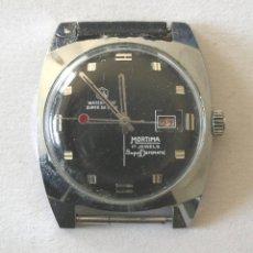 Relojes de pulsera: RELOJ CABALLERO MORTIMA MODELO SUPERDATOMÁTIC DE LUJO, FUNCIONA, CON CALENDARIO. MED. 35 MM. Lote 58141288