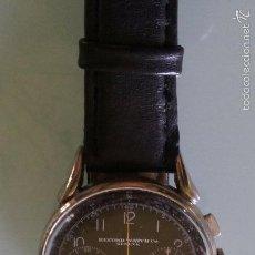 Relojes de pulsera: RELOJ RECORD CRONOGRAPH SWISS MADE 17 JEWELS CALIBRE VENUS 175 AÑO 40 FUNCIONA PERFECTAMENTE 36MM. Lote 53388630