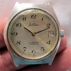 Relojes de pulsera: RELOJ VINTAGE JUSTINA DE CUERDA. Lote 58610364