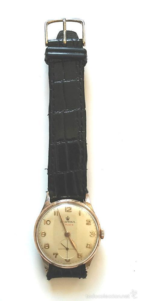 Relojes de pulsera: Reloj Festina 15 rubis Made in Suiza, funciona. Med. 3 cm sin contar corona - Foto 2 - 58627651
