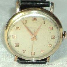 Relojes de pulsera: ANTIGUO RELOJ GIRARD PERREGAUX GP 26 ANTIMAGNETIC 17 JEWELS DIAMETRO 35 MM PLAQUE DE ORO FUNCIONA. Lote 58683685