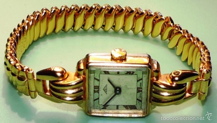 SOLEX SUIZO CHAPADO DE ORO DE 10 MICRAS CIRCA 1.945 (Relojes - Pulsera Carga Manual)