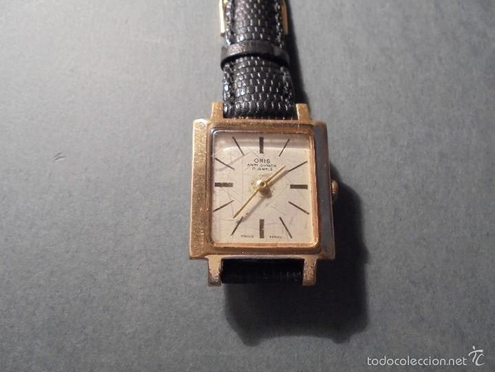 ANTIGUO RELOJ MARCA ORIS - ANTI-SHOCK 17 JEWELS SWISS MADE CARGA MANUAL FUNCIONANDO (Relojes - Pulsera Carga Manual)