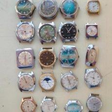 Relojes de pulsera: LOTE DE 20 RELOJES MECANICOS PARA PIEZAS(C-3). Lote 60251827