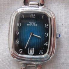 Relojes de pulsera: RELOJ DE CUERDA ANTIGUO ROYCE ESFERA AZUL NOS. Lote 61744692