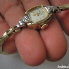 Relojes de pulsera: BULOVA 23, LE PETITE, CHAPADO ORO AMARILLO Y BLANCO 1952 P223A. Lote 62234124