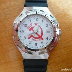 Relojes de pulsera: CCCP URSS HOZ Y MARTILLO. GLASNOST NUEVO,OLD STOCK. Lote 29421714