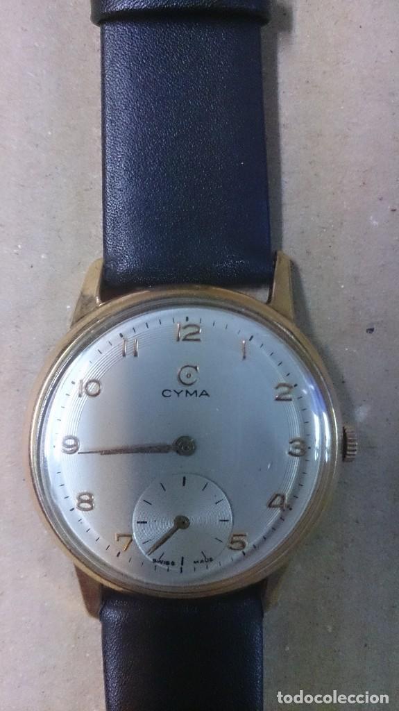 RELOJ DE CABALLERO CYMA, EN ORO, CARGA MANUAL, FUNCIONANDO (Relojes - Pulsera Carga Manual)