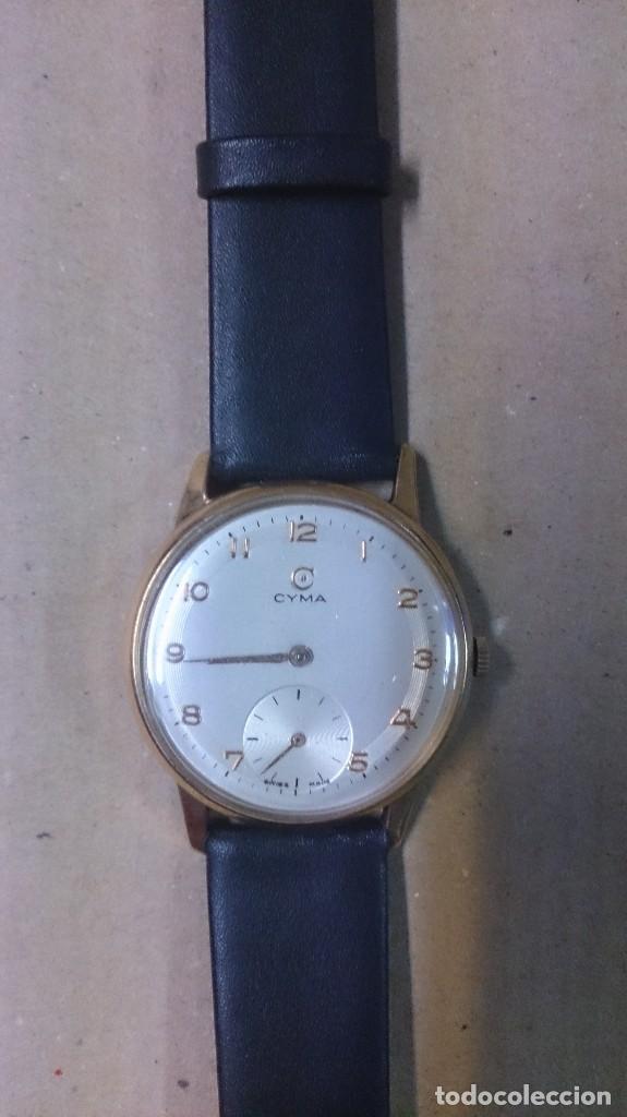 Relojes de pulsera: Reloj de caballero Cyma, en oro, carga manual, funcionando - Foto 2 - 63099488
