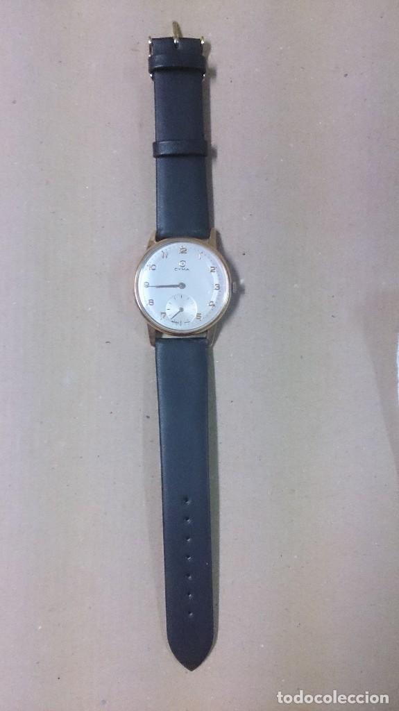 Relojes de pulsera: Reloj de caballero Cyma, en oro, carga manual, funcionando - Foto 3 - 63099488