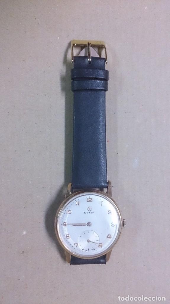 Relojes de pulsera: Reloj de caballero Cyma, en oro, carga manual, funcionando - Foto 8 - 63099488