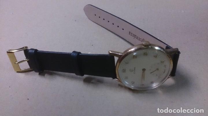 Relojes de pulsera: Reloj de caballero Cyma, en oro, carga manual, funcionando - Foto 9 - 63099488