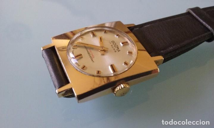 Relojes de pulsera: RELOJ MARCA DOGMA DE MUJER BAÑADO EN ORO 17 RUBIES AÑOS 50-60 - Foto 3 - 63480896