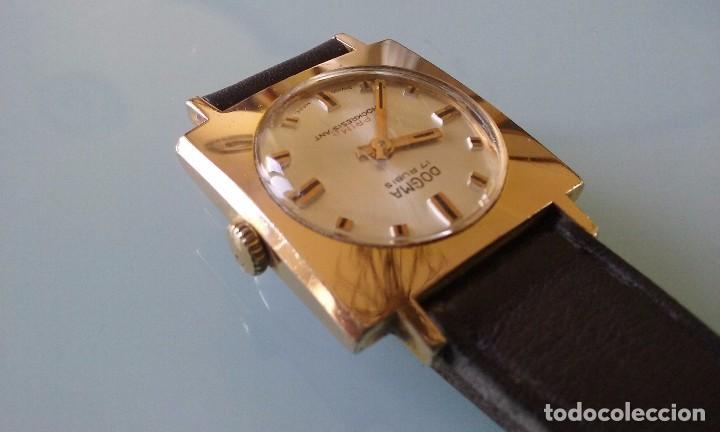 Relojes de pulsera: RELOJ MARCA DOGMA DE MUJER BAÑADO EN ORO 17 RUBIES AÑOS 50-60 - Foto 4 - 63480896