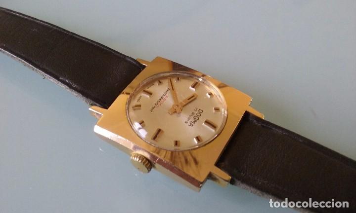 Relojes de pulsera: RELOJ MARCA DOGMA DE MUJER BAÑADO EN ORO 17 RUBIES AÑOS 50-60 - Foto 7 - 63480896