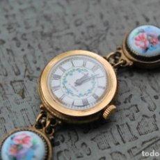 Relojes de pulsera: RELOJ DE MANO CHAIKA 17 JEWELS 22K GOLDPLATED URSS . Lote 63549632