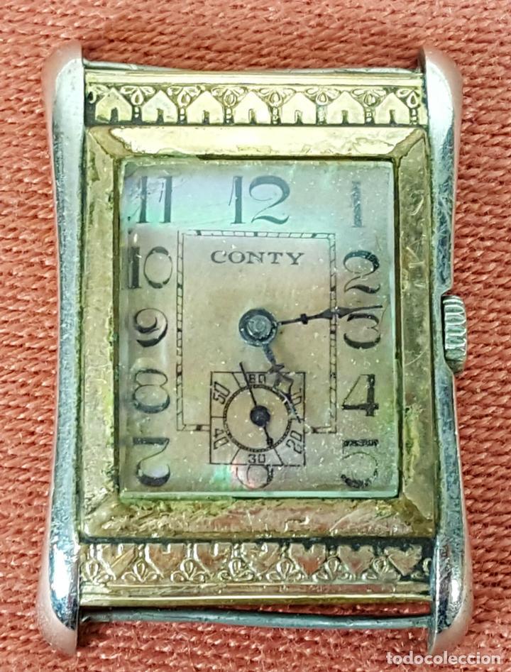 RE415. RELOJ DE PULSERA. MARCA CONTY. ESFERA EN NACAR. 15 RUBIS. CIRCA 1940 (Relojes - Pulsera Carga Manual)