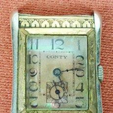 Relojes de pulsera: RE415. RELOJ DE PULSERA. MARCA CONTY. ESFERA EN NACAR. 15 RUBIS. CIRCA 1940. Lote 63904395