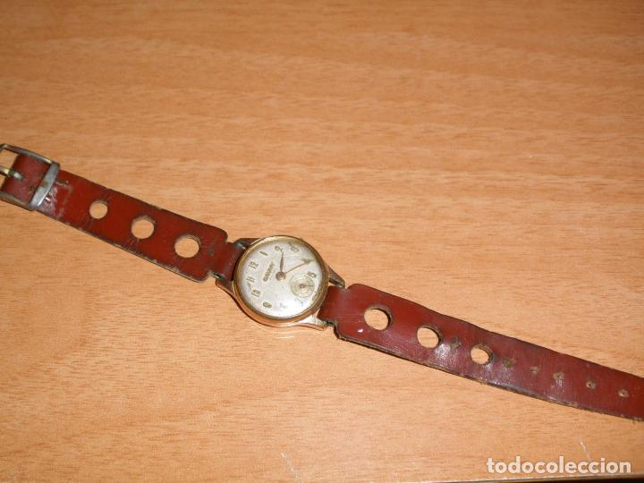 RELOJ CAUNY PRIMA ANTIMAGNETIC 15 RUBIS CHAPADO EN ORO 10 MICRONS (Relojes - Pulsera Carga Manual)