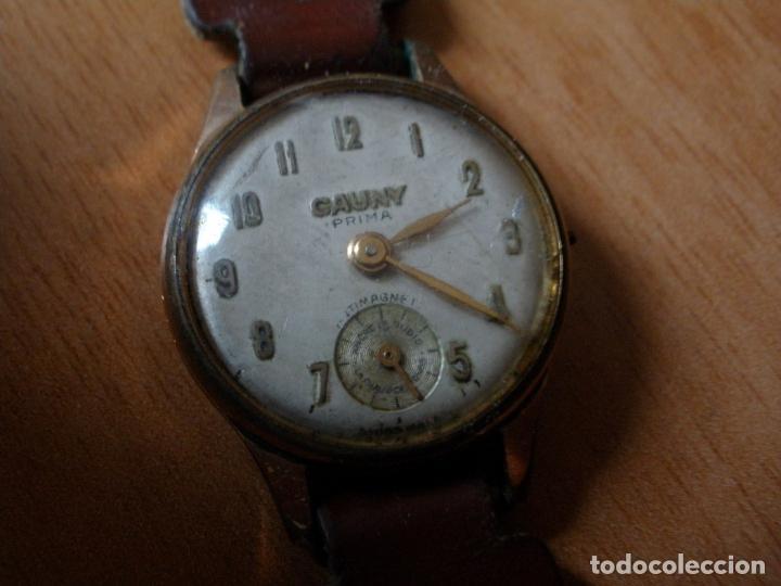 Relojes de pulsera: RELOJ CAUNY PRIMA ANTIMAGNETIC 15 RUBIS CHAPADO EN ORO 10 MICRONS - Foto 2 - 64527331