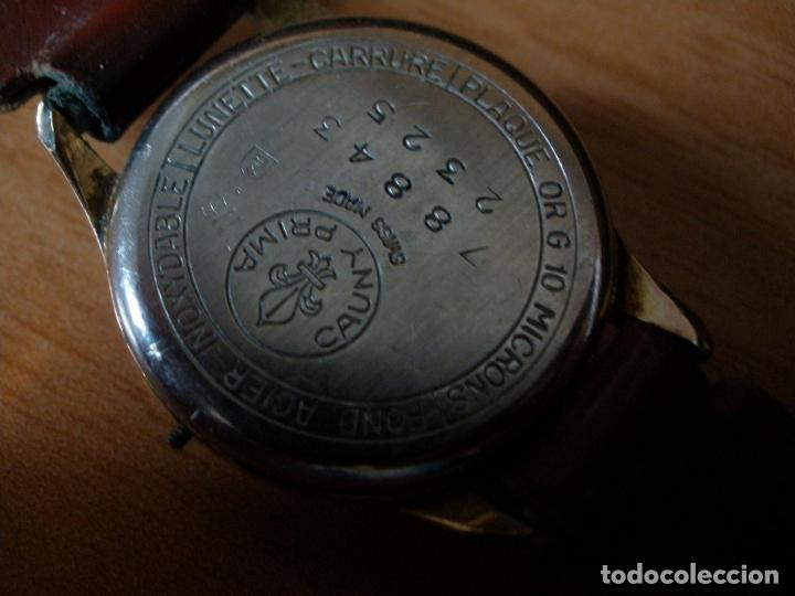 Relojes de pulsera: RELOJ CAUNY PRIMA ANTIMAGNETIC 15 RUBIS CHAPADO EN ORO 10 MICRONS - Foto 5 - 64527331