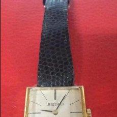 Relojes de pulsera: RELOJ SEIKO SEÑORA CUERDA DIARIA. Lote 65827606