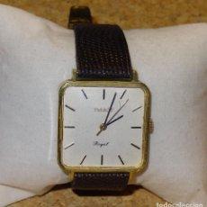 Relojes de pulsera: RELOJ TISSOT ROYAL DE CUERDA - FUNCIONANDO - CORREA DE LAGARTO CON CIERRE DE ORO 14 KT. Lote 65879538