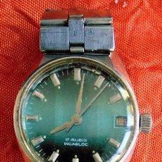 Relojes de pulsera: RELOJ DE PULSERA INCABLOC 17 RUBÍS. Lote 65987486