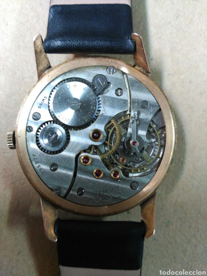 Relojes de pulsera: Reloj de caballero Cyma, en oro, carga manual, funcionando - Foto 10 - 63099488