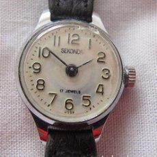 Relojes de pulsera: RELOJ DE CUERDA ANTIGUO SEKONDA DE DAMA. Lote 67430529