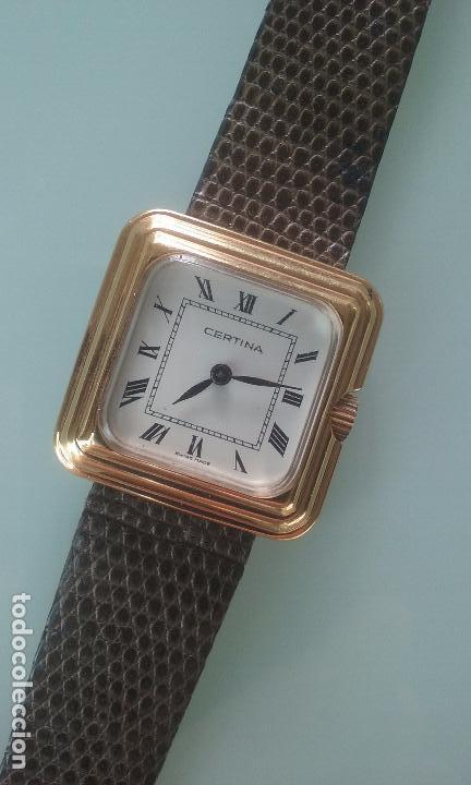 RELOJ MUJER CERTINA CARGA MANUAL CAJA ORO 40 MICRAS AÑOS 70 (Relojes - Pulsera Carga Manual)