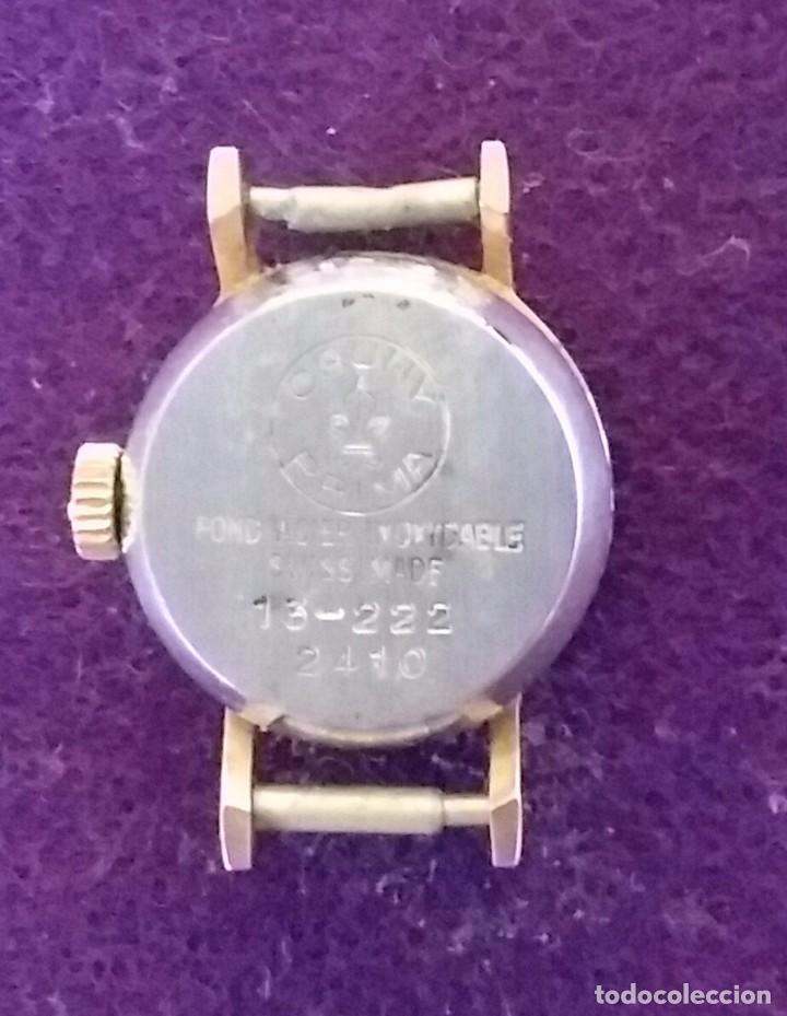 Relojes de pulsera: RELOJ DE SEÑORA CAUNY DE CARGA MANUAL. FABRICACION SUIZA. FUNCIONANDO. CAJA CHAPADA EN ORO 10 MICRAS - Foto 2 - 68581045