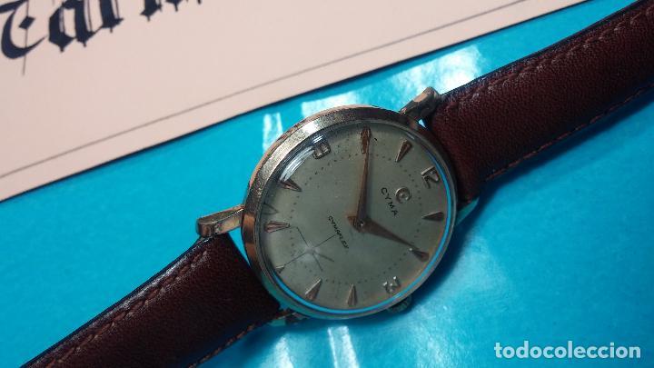 Relojes de pulsera: Botito reloj de cuerda Cyma, antiquisimo, de hombre, funcionando, grande, hermoso, lindo, chapado - Foto 2 - 68612953