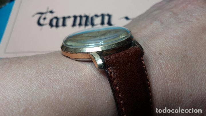 Relojes de pulsera: Botito reloj de cuerda Cyma, antiquisimo, de hombre, funcionando, grande, hermoso, lindo, chapado - Foto 5 - 68612953